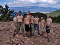 6-16-RM2, Summit of Mt. Phillips, Philmont. Wheeler Peak in the background.