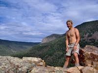 Me at the Notch, Philmont.