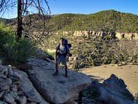 Me on Anasazi Ridge, Philmont.
