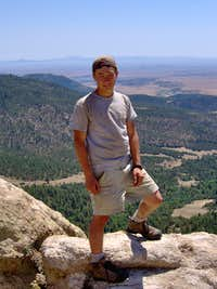 Me at Window Rock, Philmont.