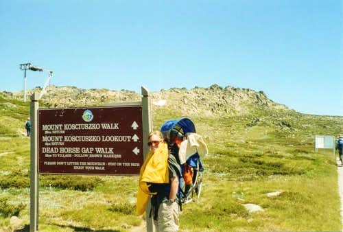 Mt Kosciusko from the...