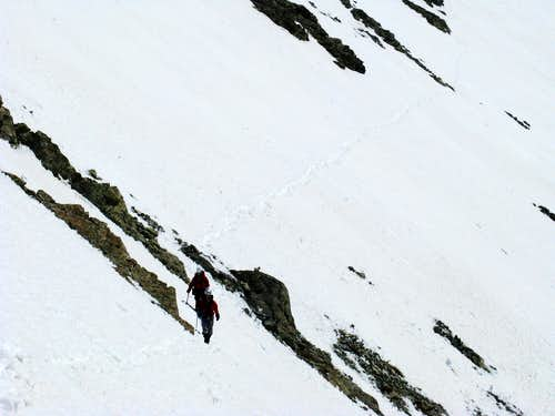 Traversing the SW slopes