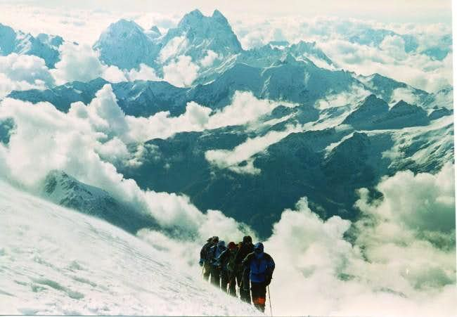 At the saddle of Elbrus....