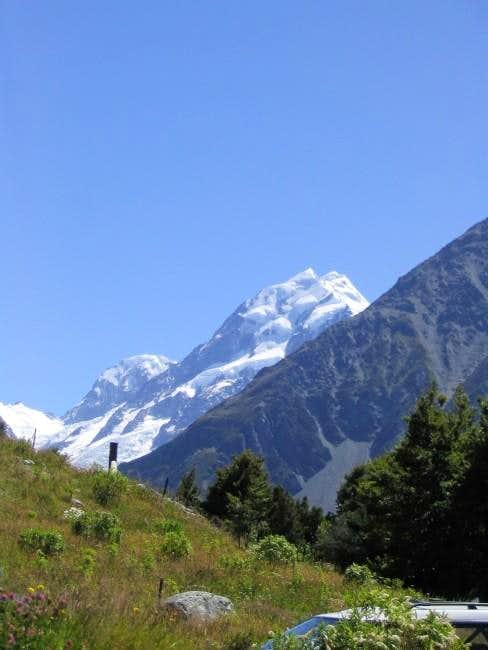 Aoraki From Mt. Cook Village....
