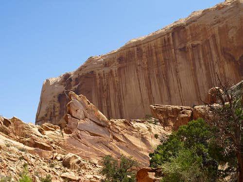 desert varnish on Navajo sandstone