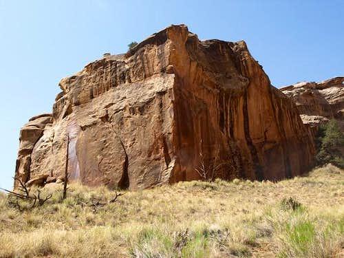 squareish block in Lower Muley Twist