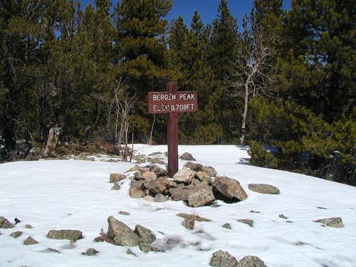 Summit of Bergen Peak