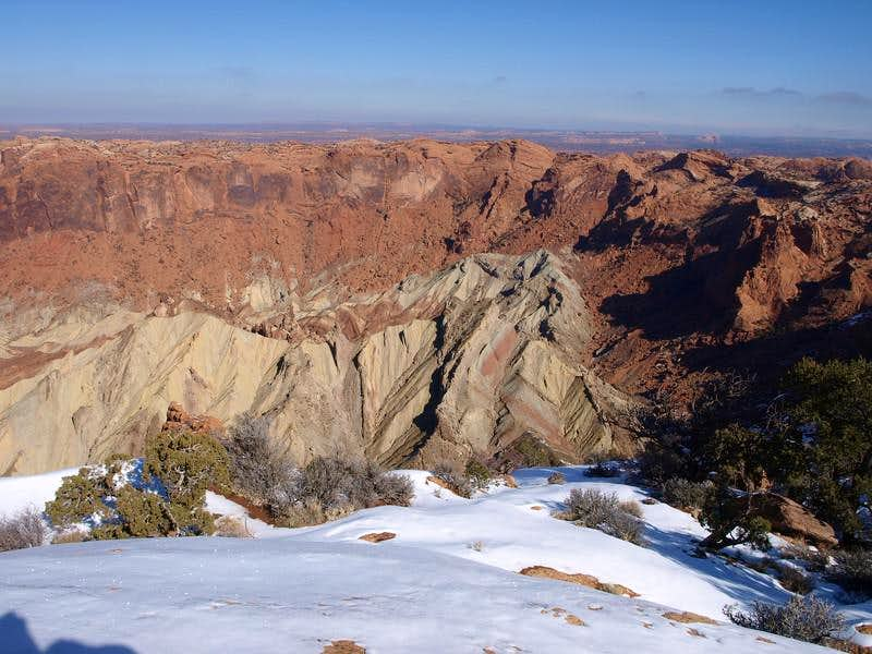 Upheaval Dome crater in February