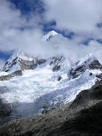 Chopicalqui from Paso Ulta Chico (4800m)
