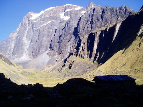Vertical walls of Tikimani (5580 m)