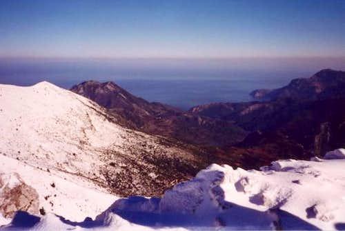 View of Evia's east coast....