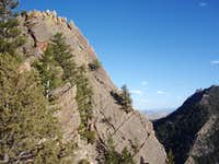 The summit of Shirttail Peak from the North Ridge Route