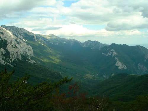 View from Strazbenica pass...