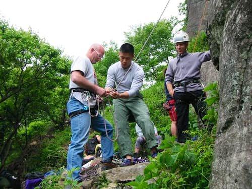 Ken ensured John was tied...