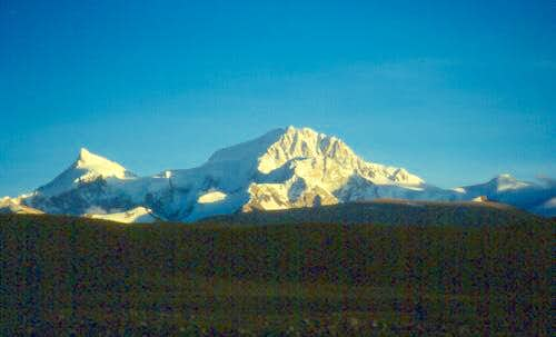 Shisha Pangma seen from the...
