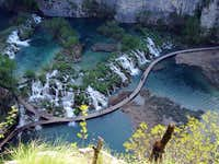 Classic view on Plitvice Lakes.