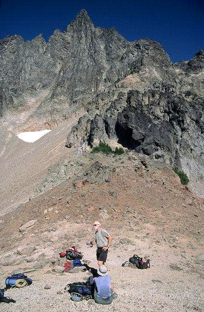 At the highest saddle on the...
