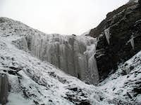 20-25m high frozen waterfall