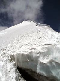 Crevasse on the ridge