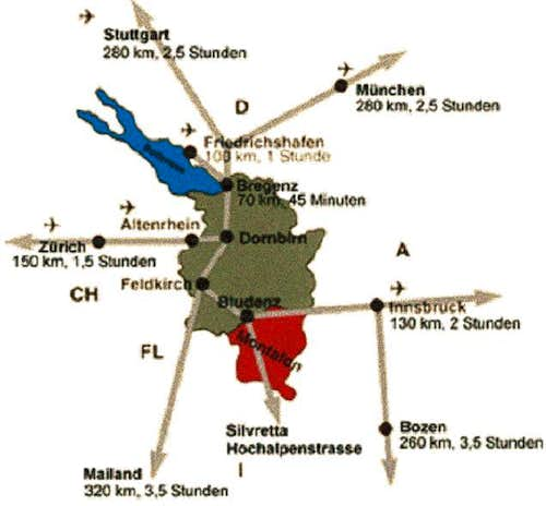 Sulzfluh - Location map...