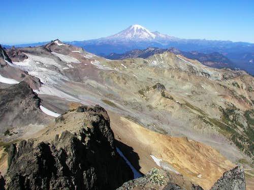 This view of Mt. Rainier...