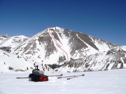 Skiing San Luis Peak