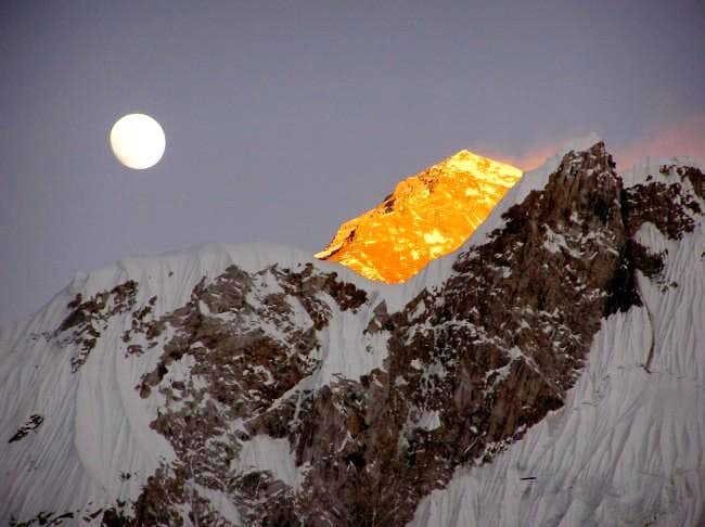 Everest by moonlight from...