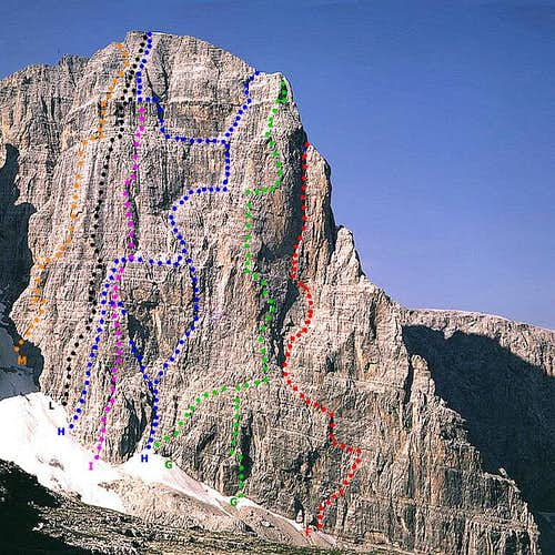 Crozzon di Brenta and NE wall...