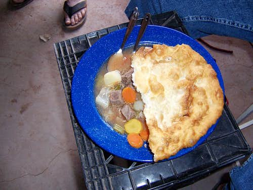 Beef Stew and Fry Bread, Canyon de Chelly