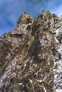 Abseiling from the first...