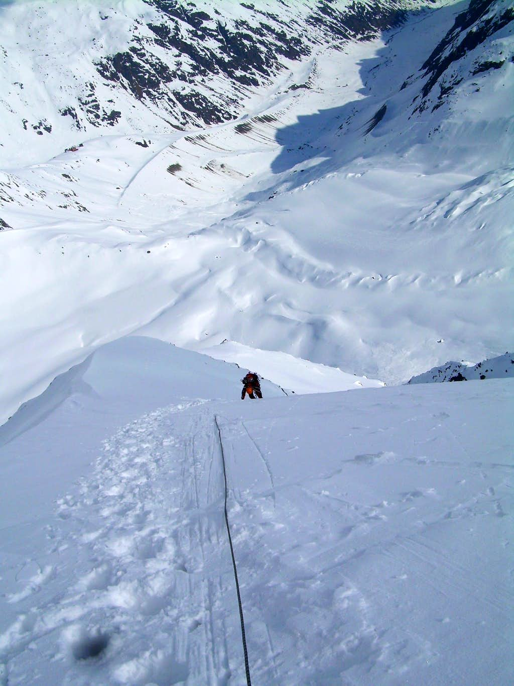 The last pitch of the Taschach North Face