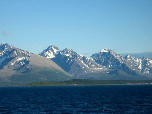 Lyngen Peninsula peaks