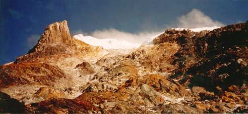 Nevado Tolima from Camp II at...