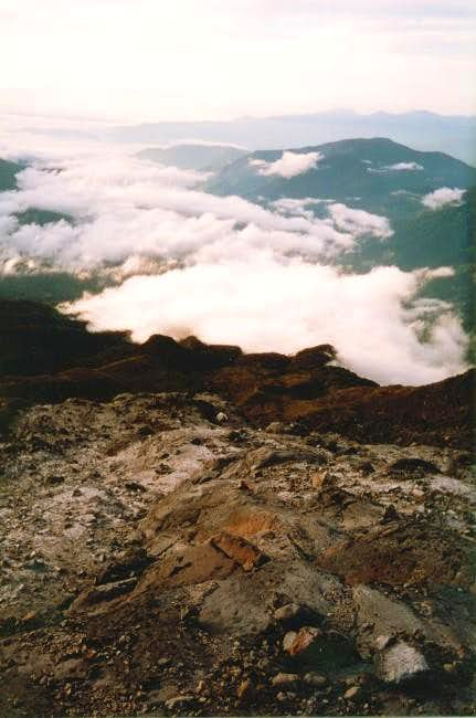 Above the clouds and Camp II...