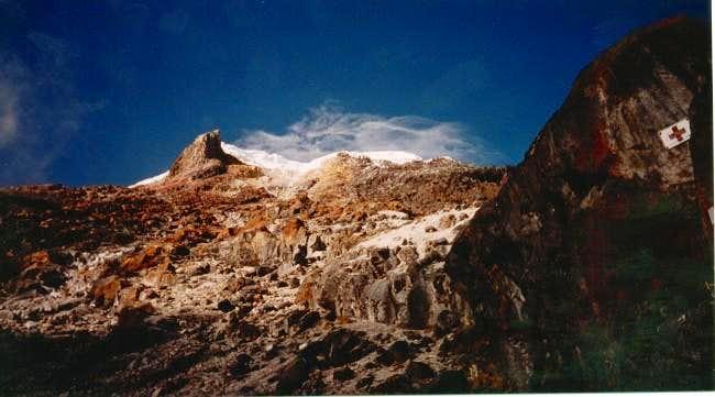 Nevado Tolima from Las Latas.