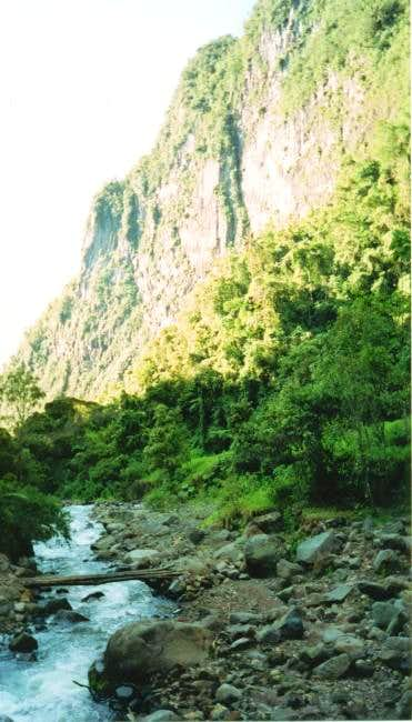 The beautiful glacial valley...