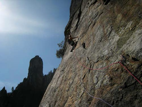 Leading on pitch 6 (5.8)