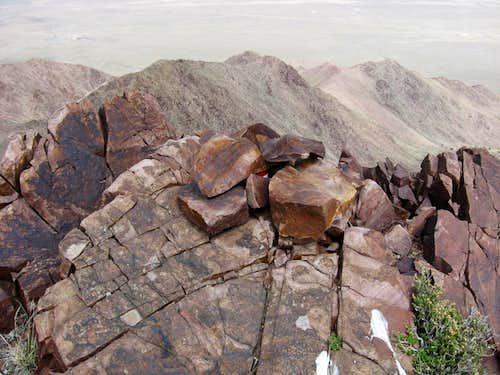 Summit  cairn & register