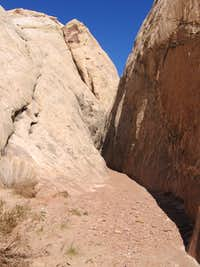 start of Ding Canyon narrows