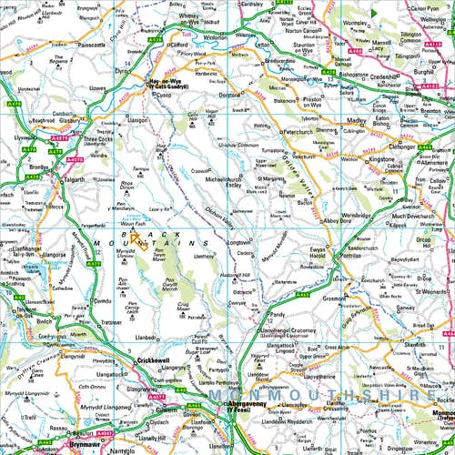 The Black Mountains - Area Access Map