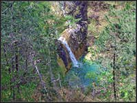 The lower waterfall on Grdi potok