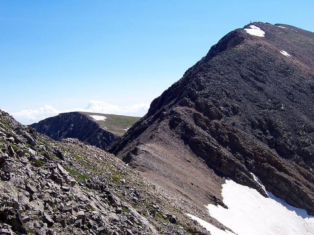 Last section of ridge