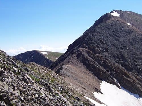 Last section of ridge