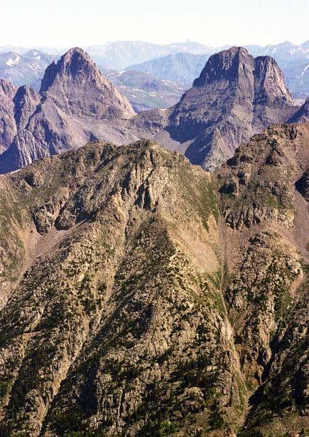 Arrow Peak and Vestal Peak