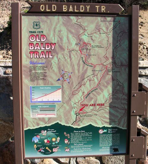 TH sign for Old Baldy