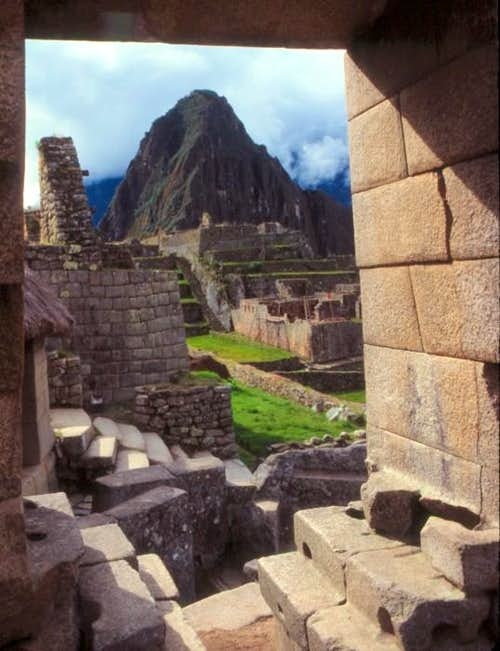 A royal view through a Machu Picchu window