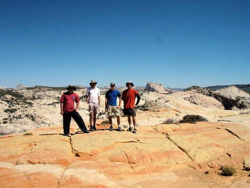 The Crew on the summit of Yellow Rock