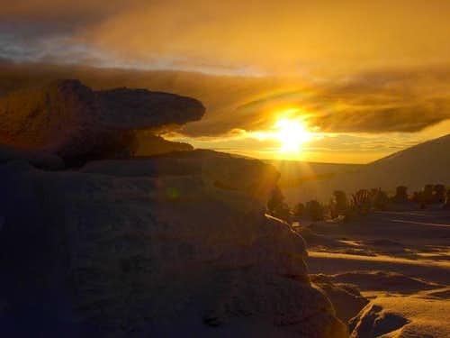 Sunset in Karkonosze