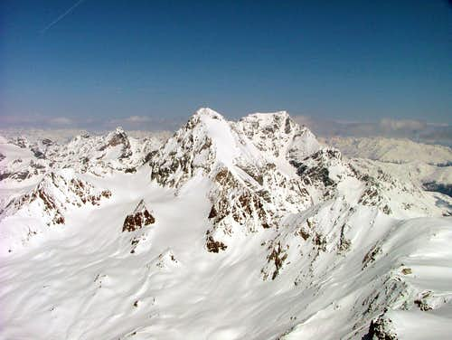 Königspitze (left) and Ortler (right) ...
