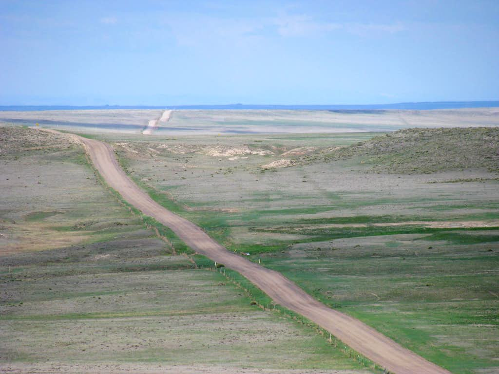 It is a long way out to the Buttes